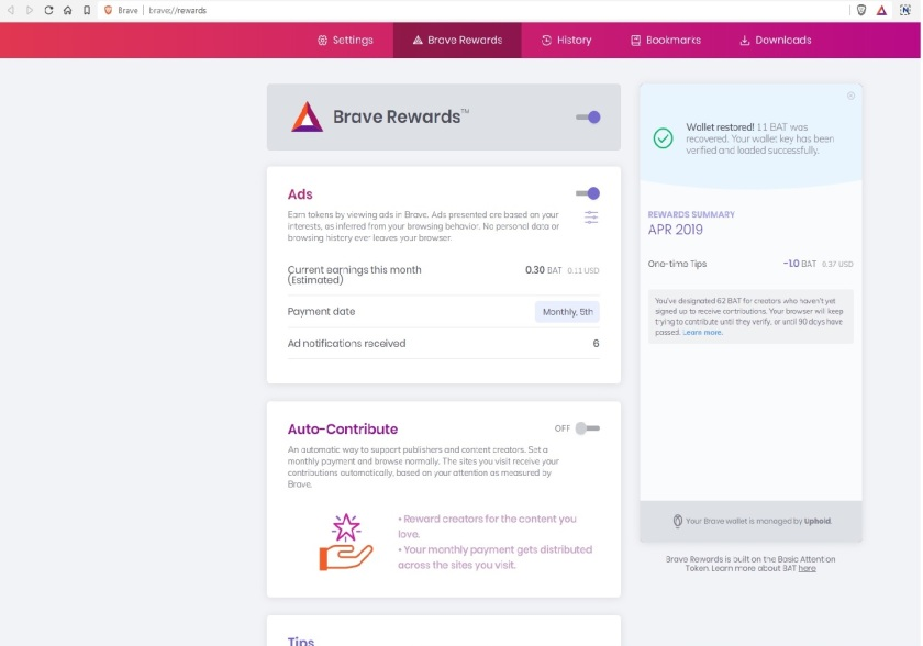 bat rewards page